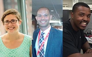 From left: Kendra Weinrich, Andre Santiago, Craig Stevens