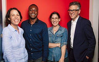 From left: executive producer and Julie Snyder, Emmanuel Dzotsi, host Sarah Koenig and