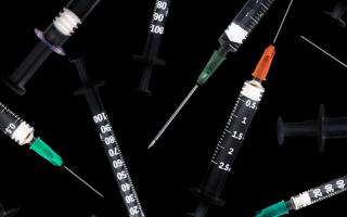 Empty clean needles