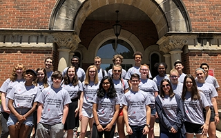 High school students who participated in the Philosophy and Critical Thinking Summer Camp in June 2018.
