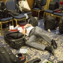 International travel is exhausting