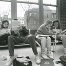 Students studying, 1991