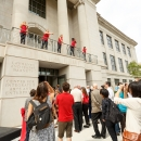 Sullivant Hall Grand Opening | Dancing outside