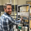 CEM researcher Andrew Berger in lab