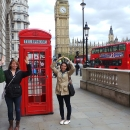 Students studying abroad in London