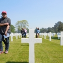 Department of History's World War II Study Tour Program, the Buckeye 13, American Cemetery at Coleville sur Mer