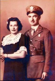 Michael and Angela Marie Valentino circa 1945. Michael Valentino served in the 20th Armored Division of the Army Signal Corps and was deployed to France and Germany.