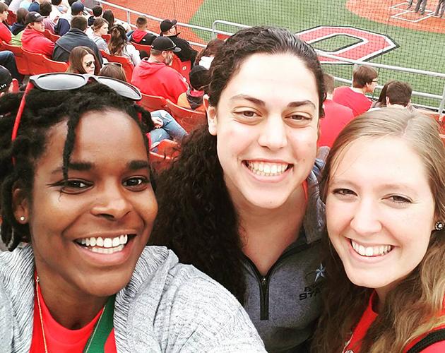 photo of Jasmine Whiteside and graduate students